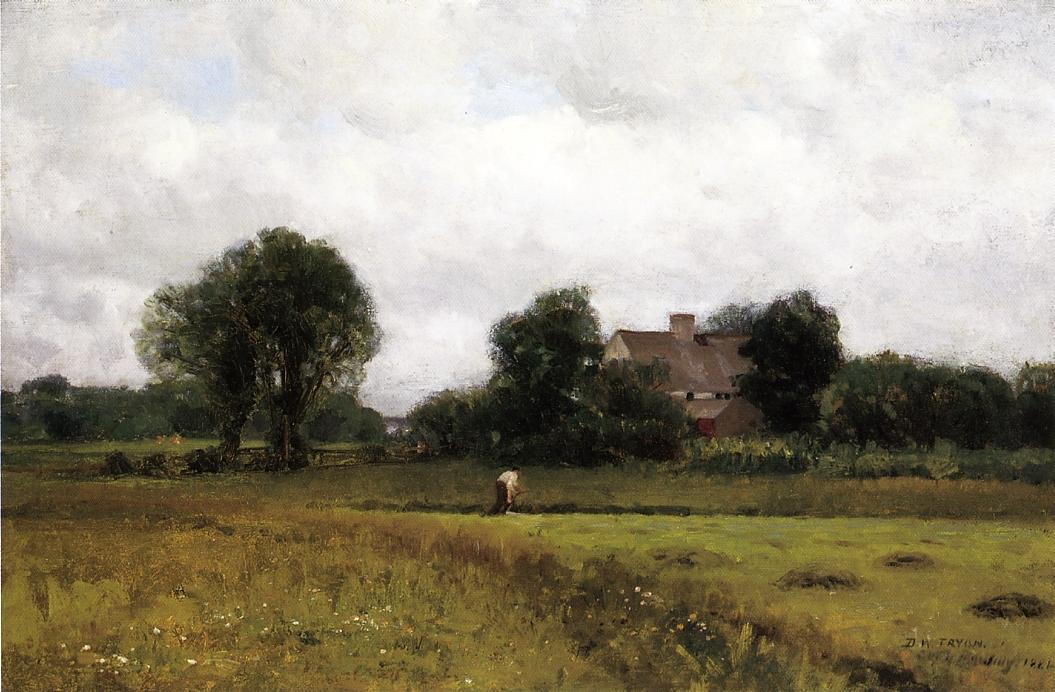 Glastonbury Meadows 1881 | Dwight Tyron | oil painting