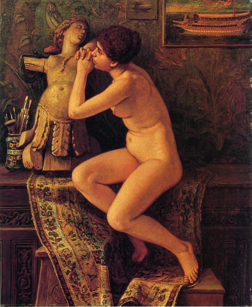 The Venetian Model 1878 | Elihu Vedder | oil painting