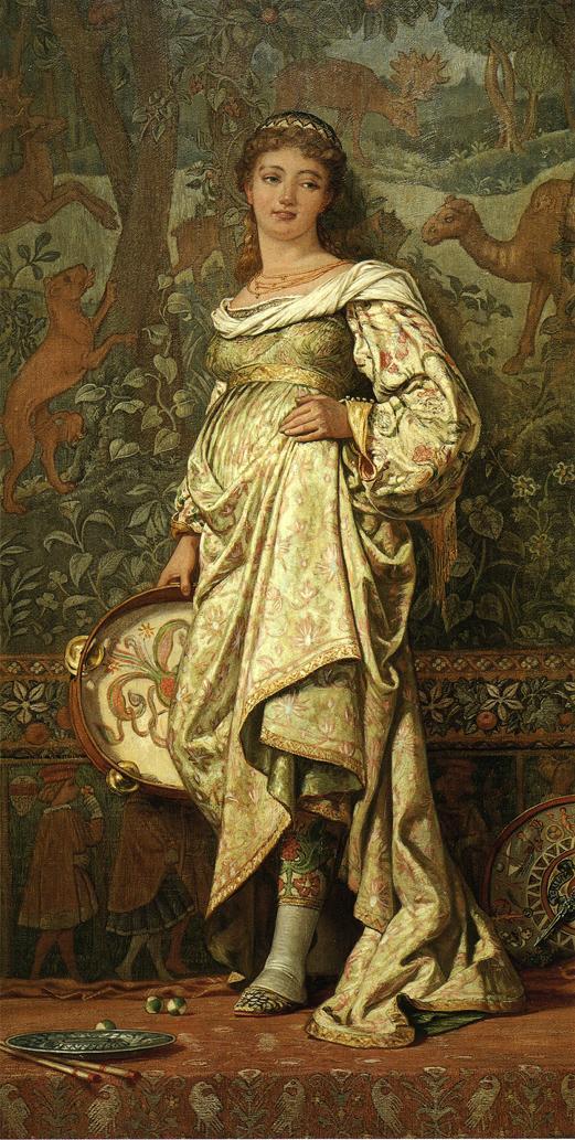 Dancing Girl 1871 | Elihu Vedder | oil painting
