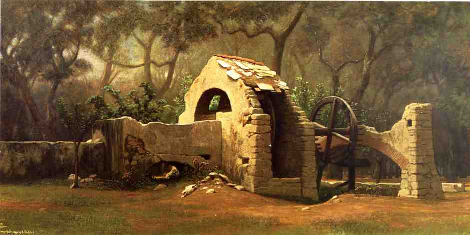 The Old Well Bordighera 1899 | Elihu Vedder | oil painting