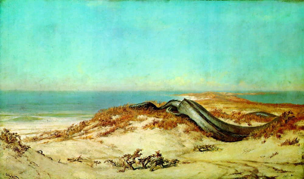 Lair of the Sea Serpent 1879 1880 | Elihu Vedder | oil painting