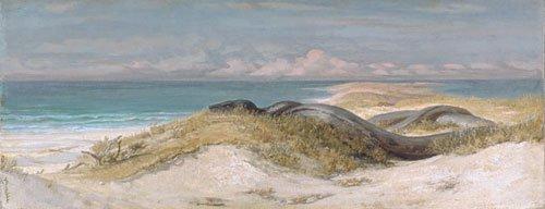 Lair of the Sea Serpent 1899   Elihu Vedder   oil painting