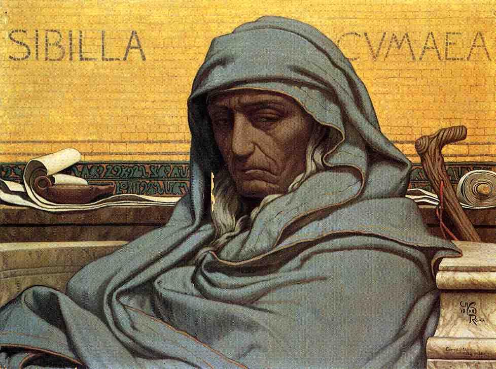Sibilia Cumaea 1898 | Elihu Vedder | oil painting
