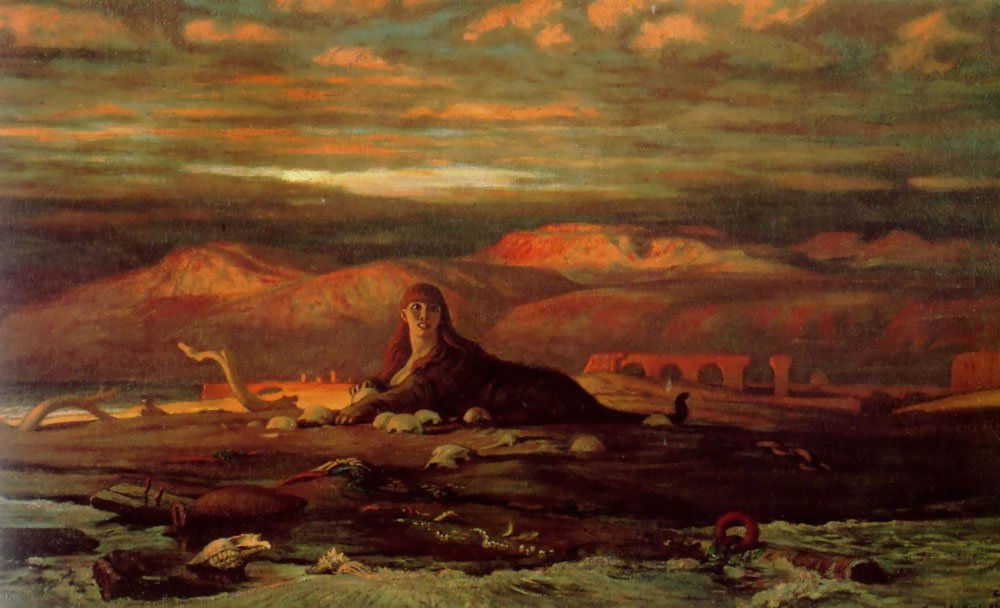 The Sphinx of the Seashore 1879 1880 | Elihu Vedder | oil painting