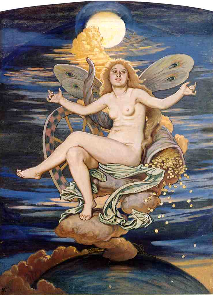 Fortuna | Elihu Vedder | oil painting