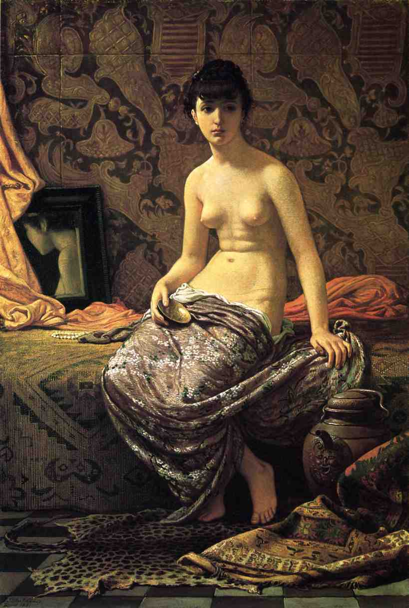 Roman Model Posing 1881 | Elihu Vedder | oil painting
