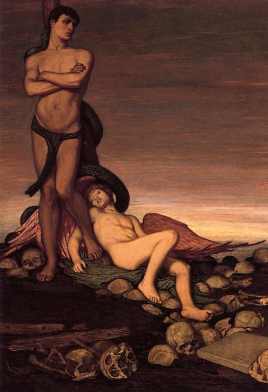 The Last Man 1886 1891 | Elihu Vedder | oil painting