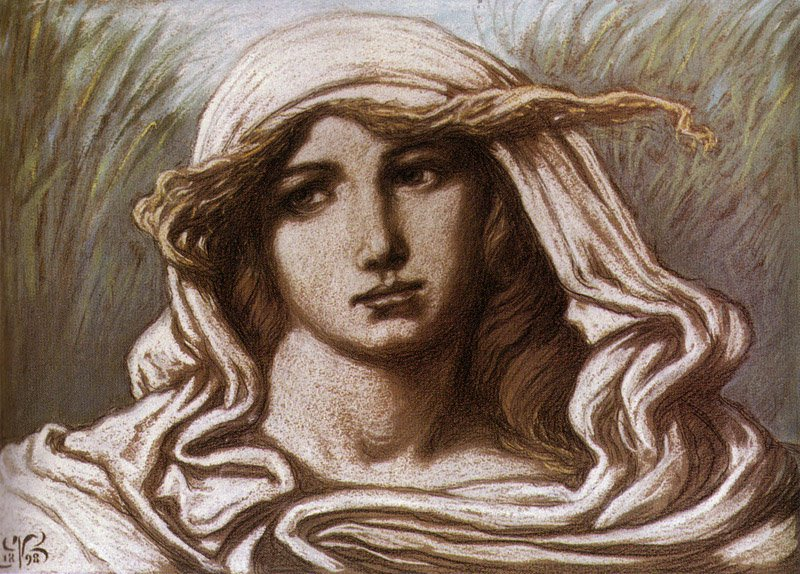 Head of a Young Woman 1900 | Elihu Vedder | oil painting