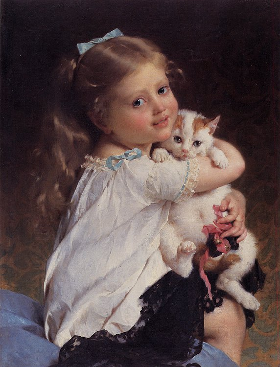 Her Best Friend 1882   Emile Munier   oil painting