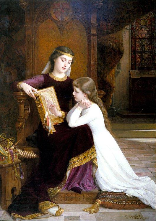 Autrefois 1888   Emile Munier   oil painting