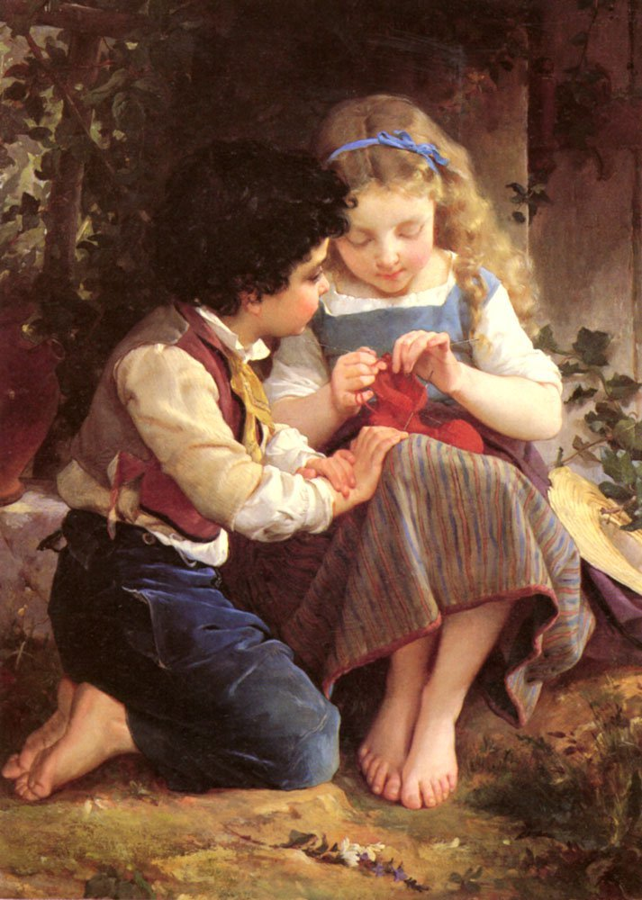 A Special Moment   Emile Munier   oil painting