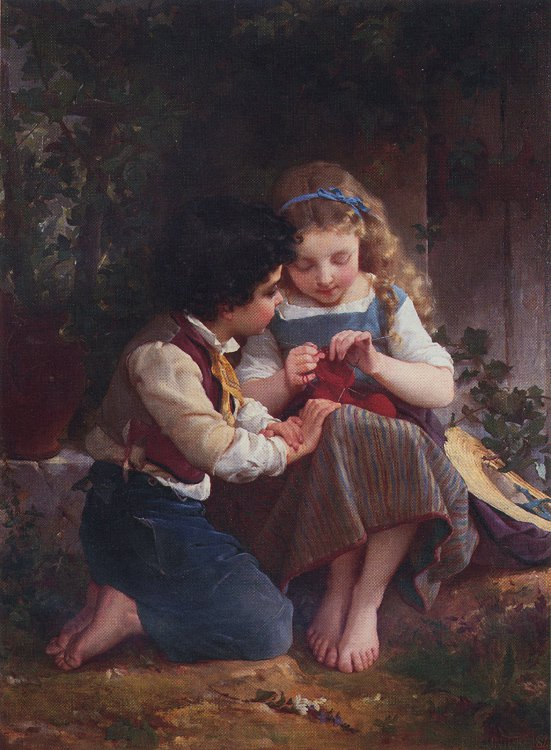A Special Moment 1874   Emile Munier   oil painting
