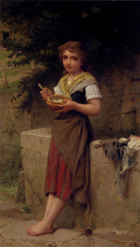 La Jeune Paysanne 1894   Emile Munier   oil painting