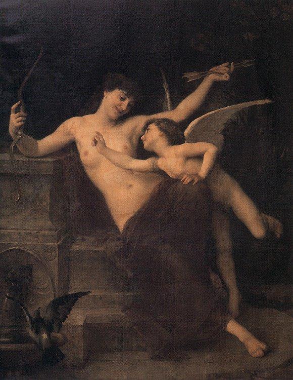 Cupid Disarmed 1886   Emile Munier   oil painting
