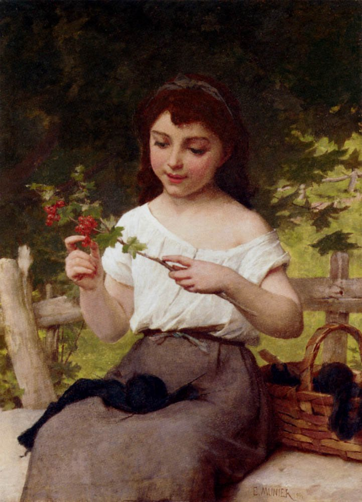 A Sprig of Berries 1891 | Emile Munier | oil painting
