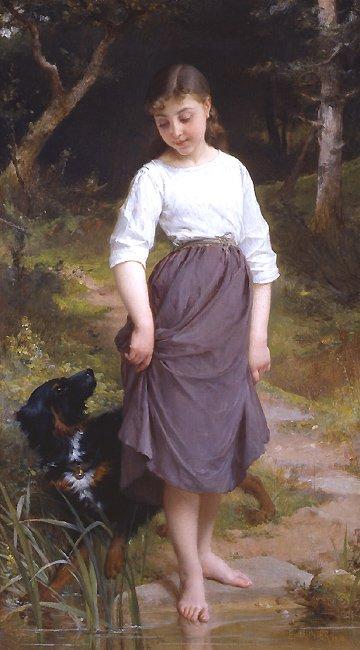 Essai de Eau 1890   Emile Munier   oil painting