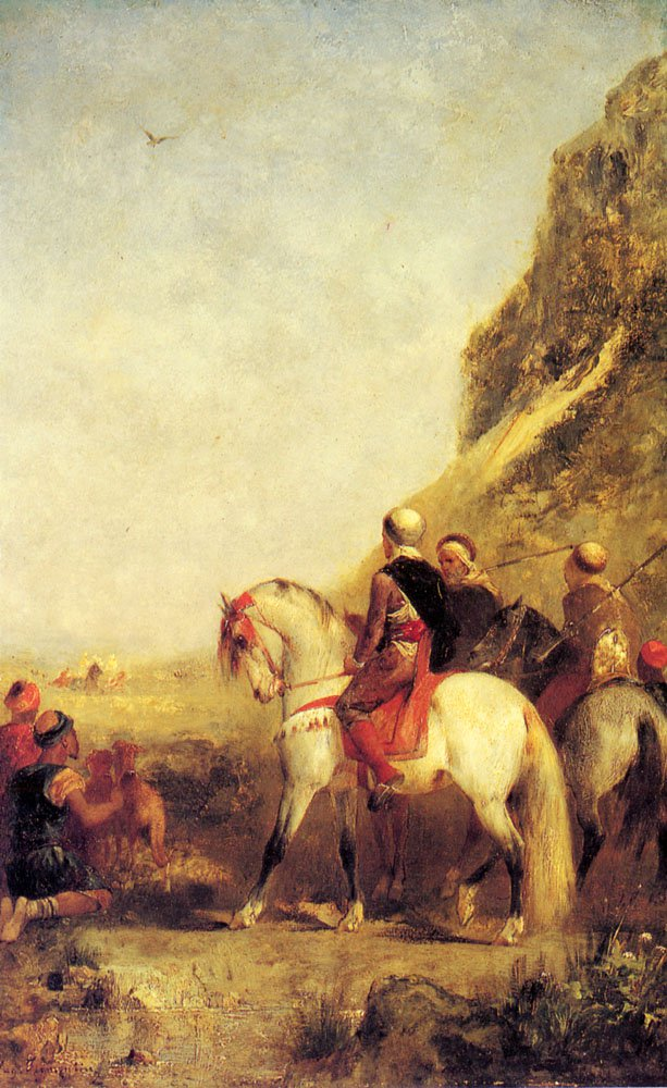 Arabs Hunting   Eugene Fromentin   oil painting