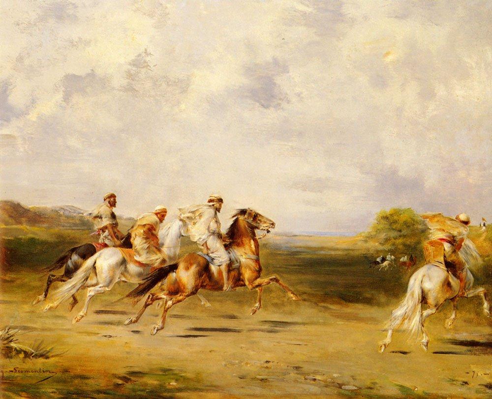 Arab Horsemen   Eugene Fromentin   oil painting