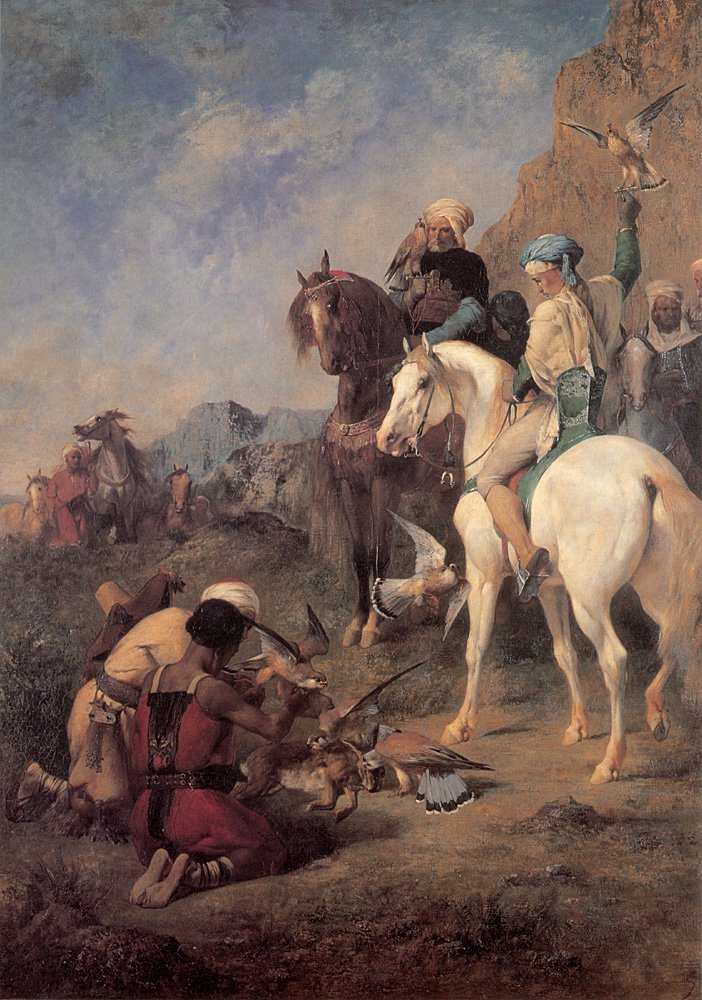 Falcon Hunting in Algeria | Eugene Fromentin | oil painting