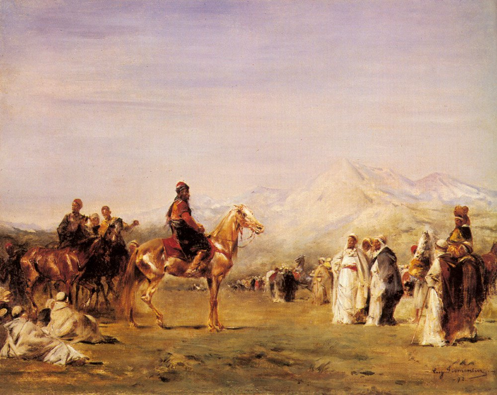 Arab Encampment in the Atlas Mountains | Eugene Fromentin | oil painting