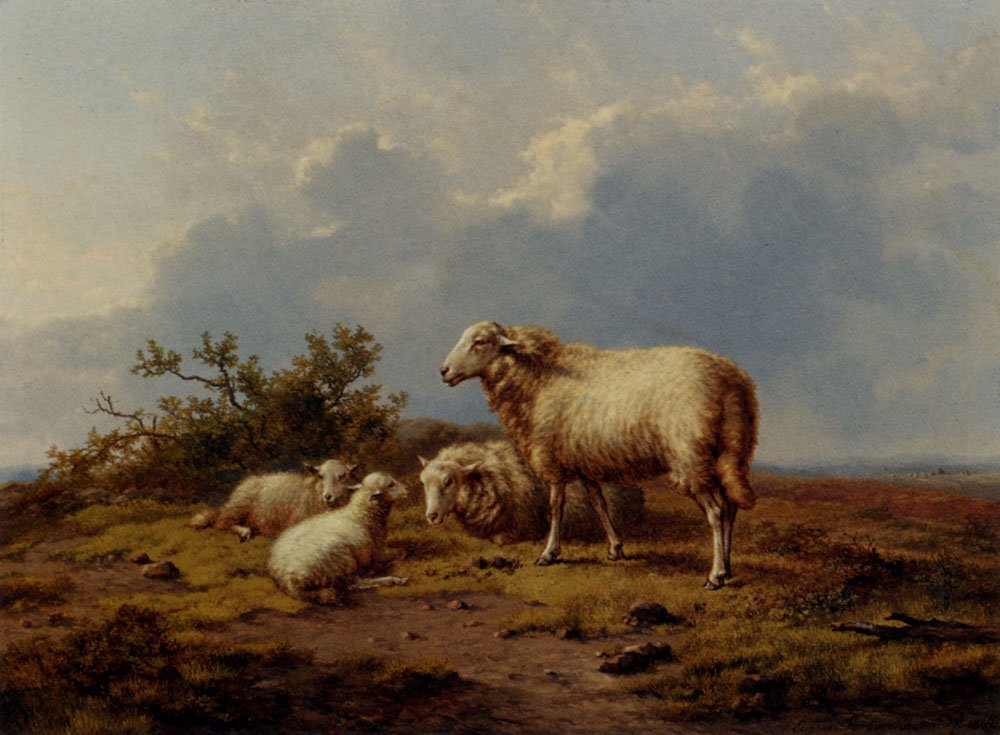 Sheep In The Meadow 1864 | Eugene Verboeckhoven | oil painting
