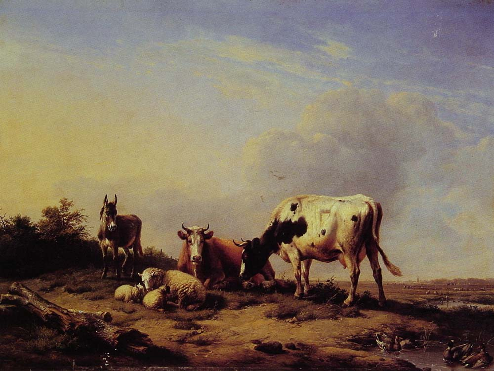 A gathering in the pasture 1847 | Eugene Verboeckhoven | oil painting