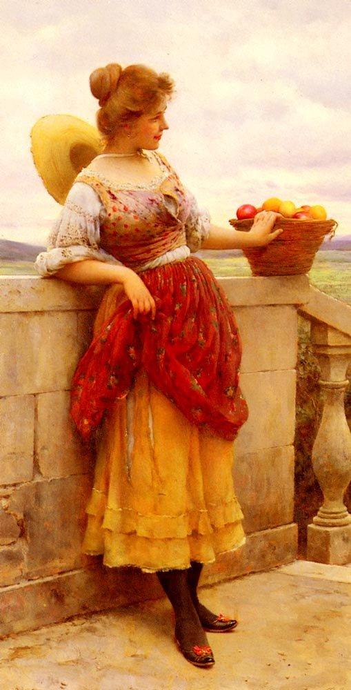 Le Plaisir Pleasure 1900 | Eugene de Blaas | oil painting