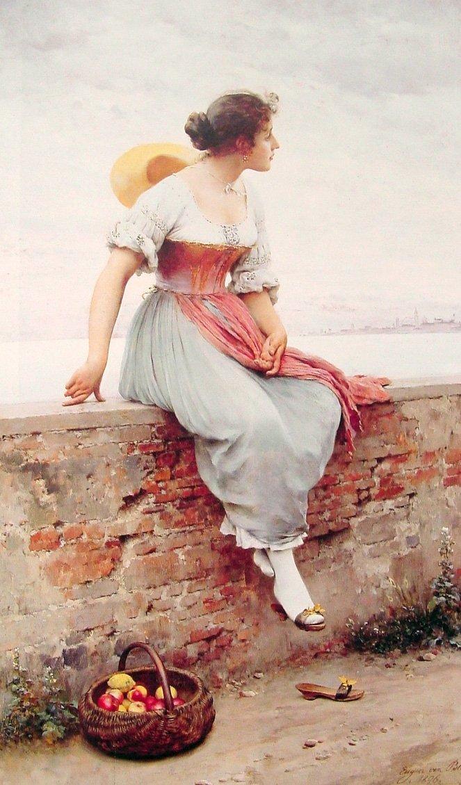A Pensive Moment 1896 | Eugene de Blaas | oil painting
