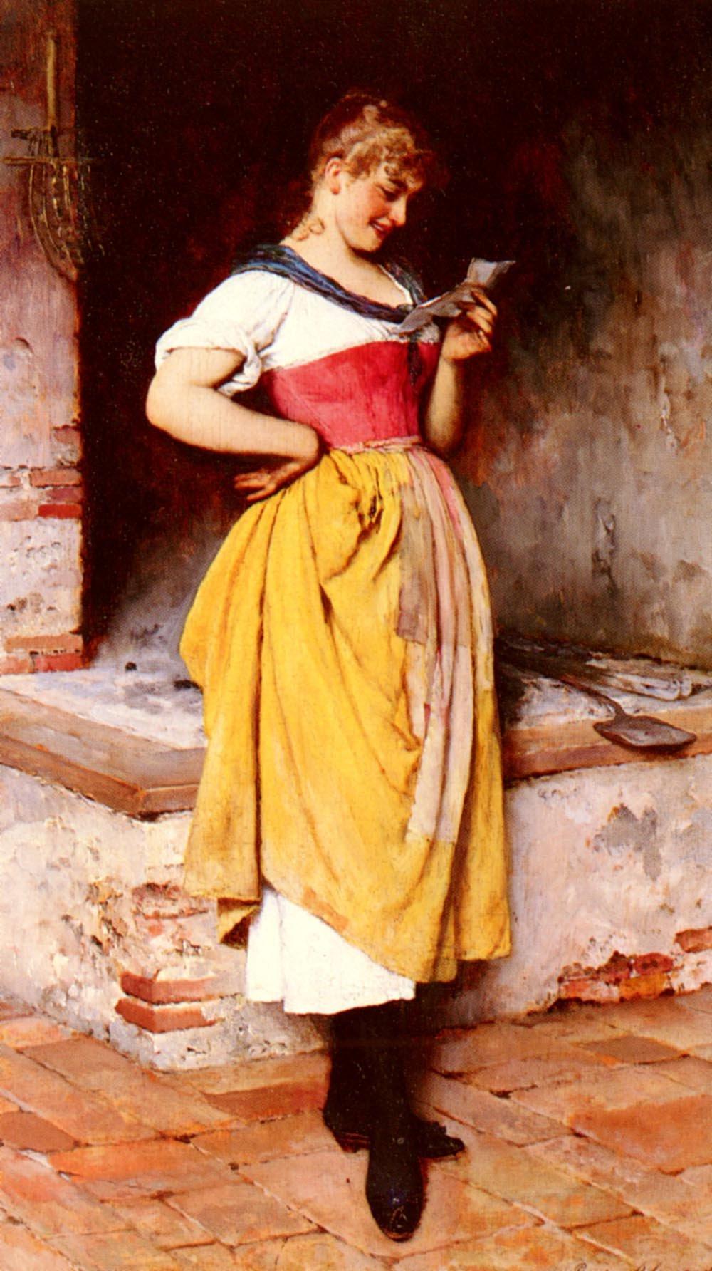 Good News 1887 | Eugene de Blaas | oil painting