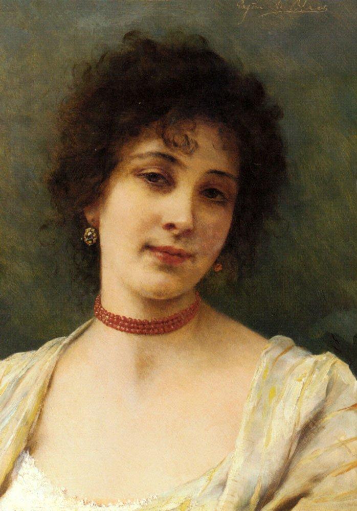 An Elegant Lady | Eugene de Blaas | oil painting