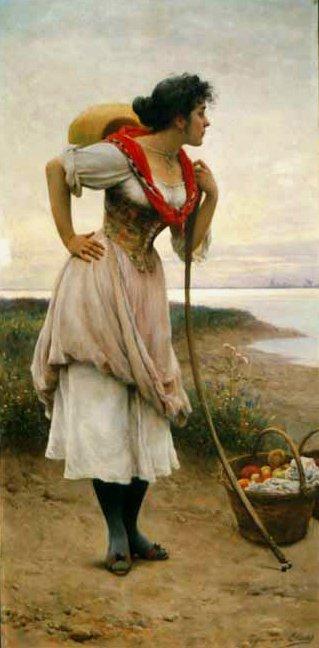 Fruit Vendor | Eugene de Blaas | oil painting
