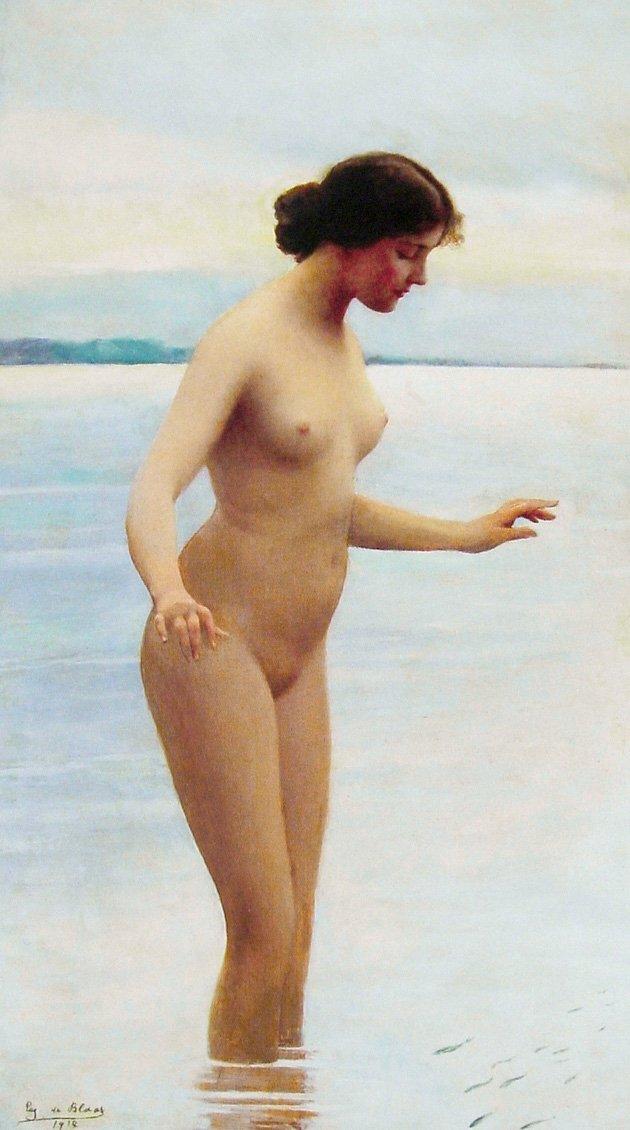 In the Water 1914 | Eugene de Blaas | oil painting