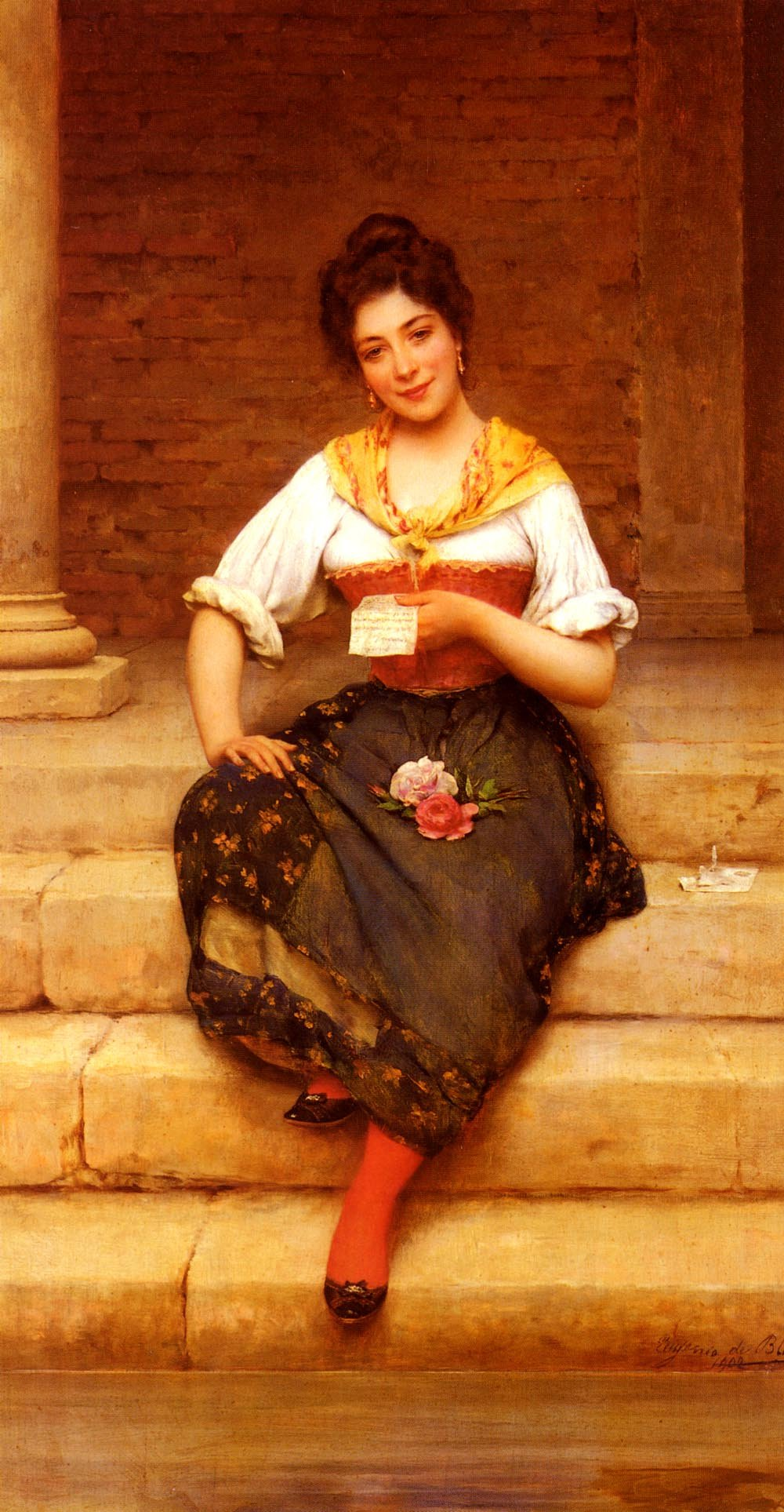 The Love Letter | Eugene de Blaas | oil painting