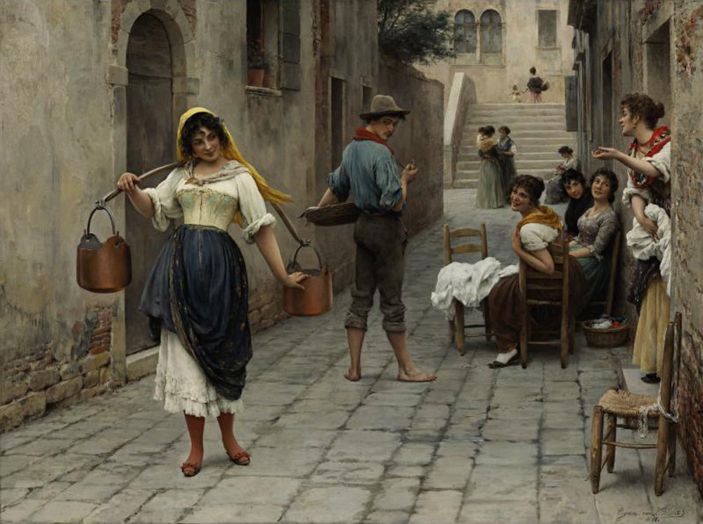 Catch of the Day | Eugene de Blaas | oil painting