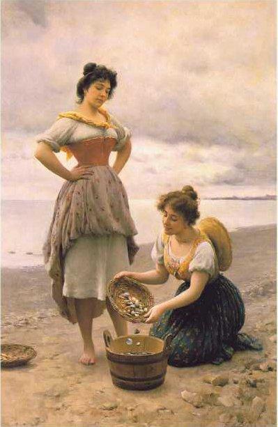 Gathering Shells | Eugene de Blaas | oil painting