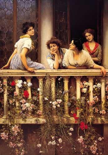 Balcony | Eugene de Blaas | oil painting