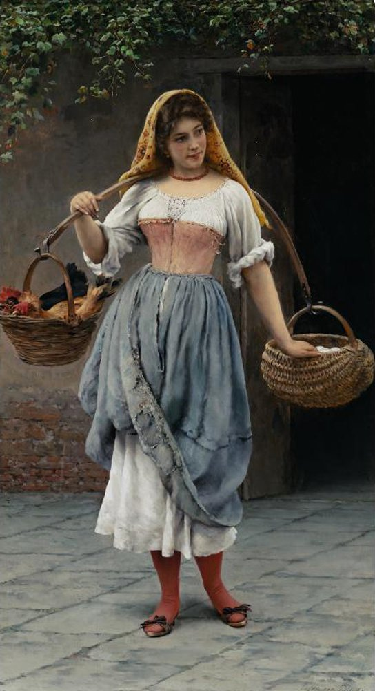 Which Came First 1899 | Eugene de Blaas | oil painting