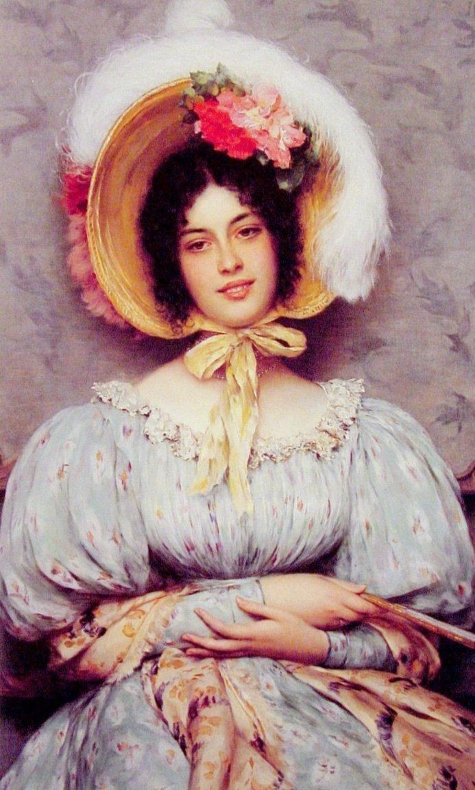 A Viennese Beauty 1899 | Eugene de Blaas | oil painting
