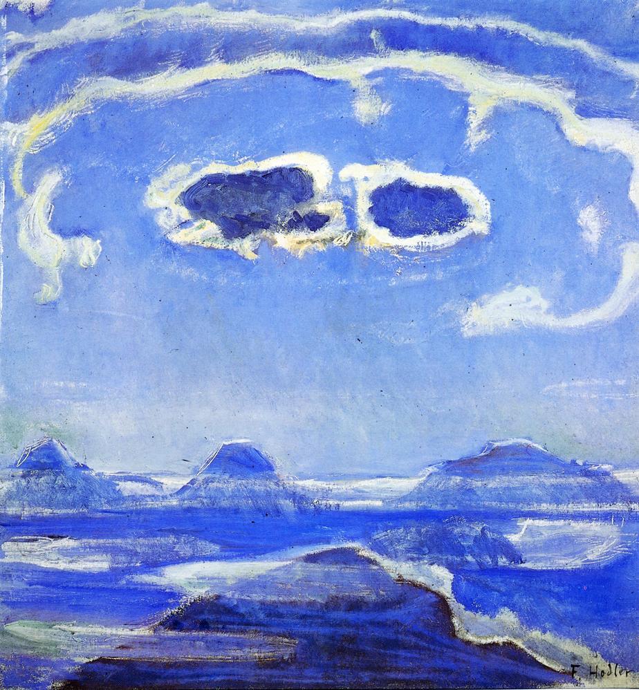 Eiger Monch and Jungfrau in Moonlight | Ferdinand Hodler | oil painting