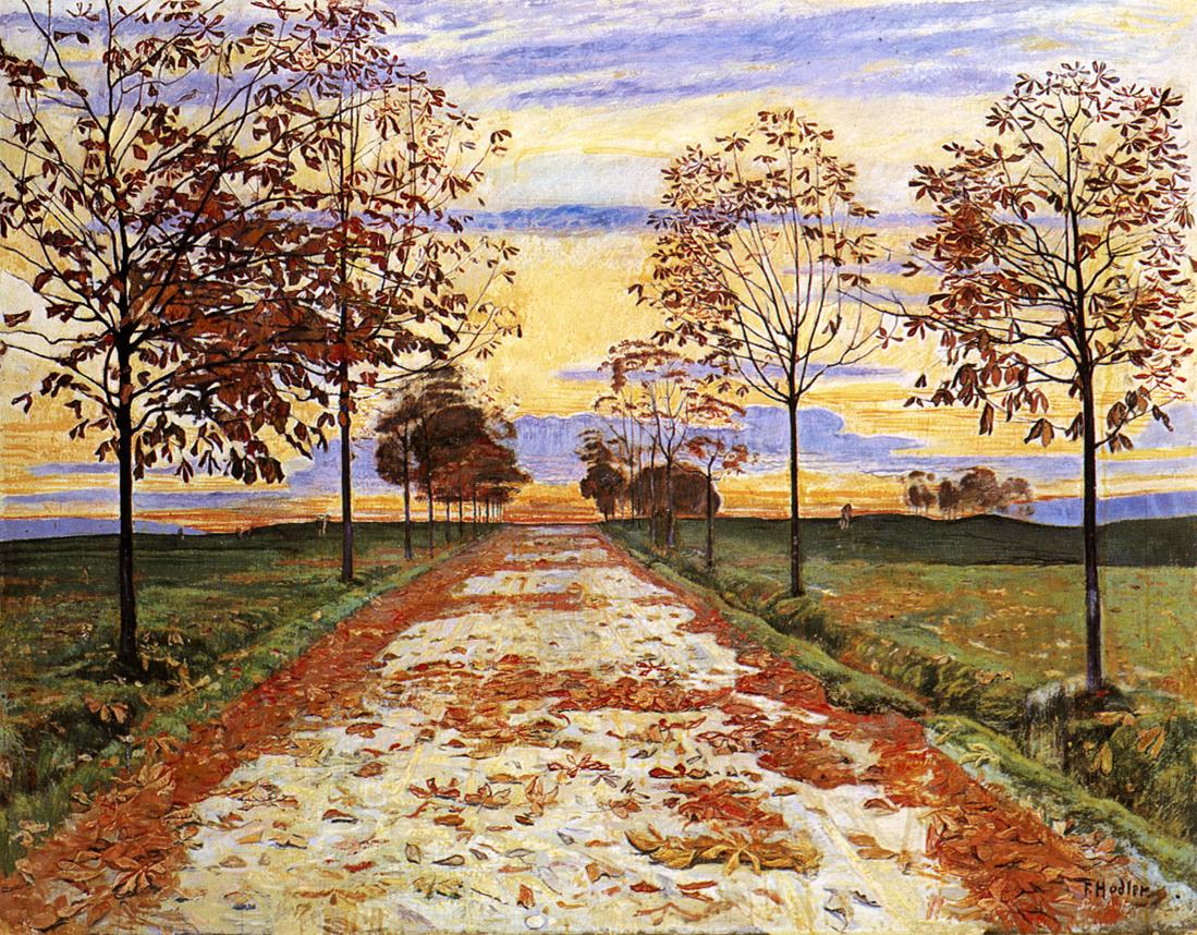 Autumn Evening | Ferdinand Hodler | oil painting