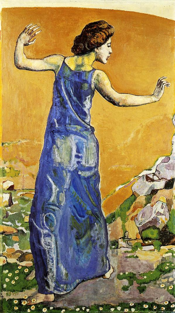 Joyous Woman | Ferdinand Hodler | oil painting