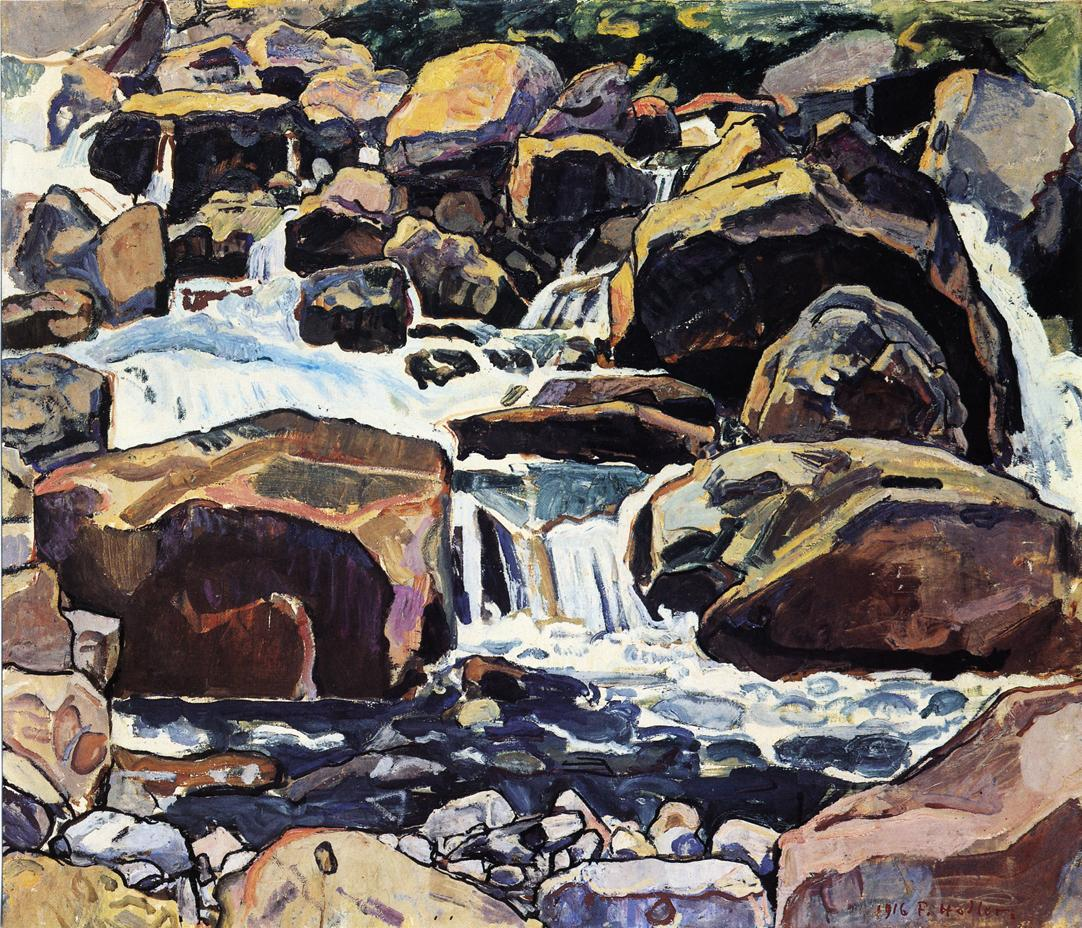 Mountain Stream at Champery Date unknown | Ferdinand Hodler | oil painting