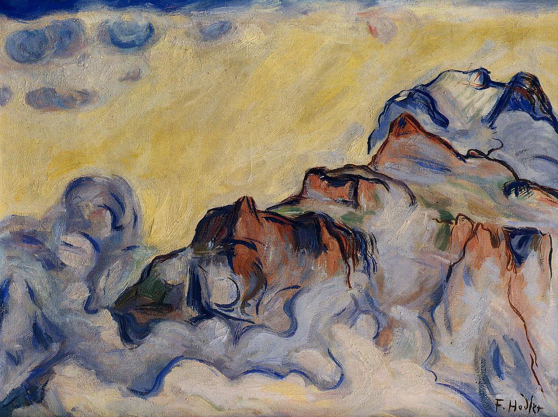 Landscape Date unknown   Ferdinand Hodler   oil painting