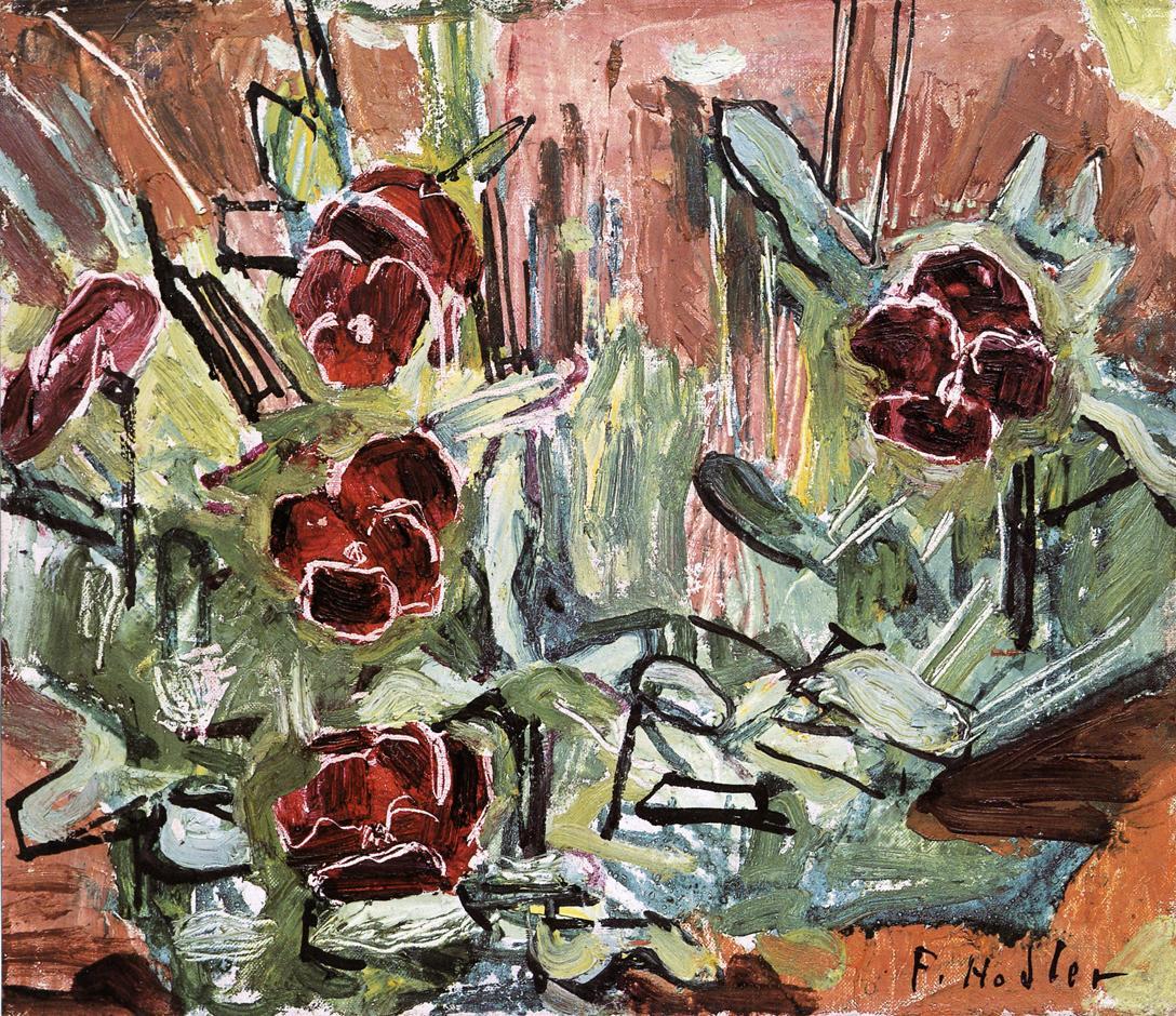 Pansies Date unknown   Ferdinand Hodler   oil painting