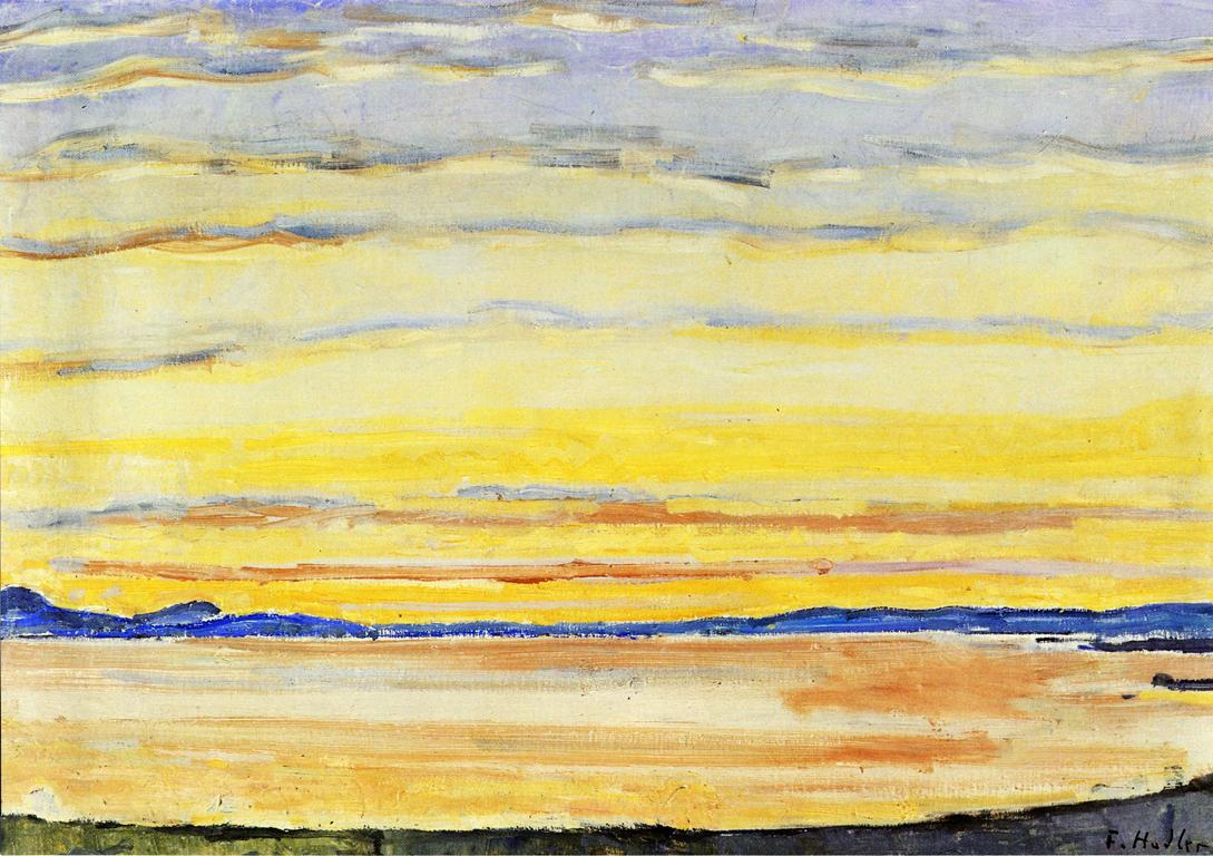 Sunset on Lake Geneva Date unknown | Ferdinand Hodler | oil painting