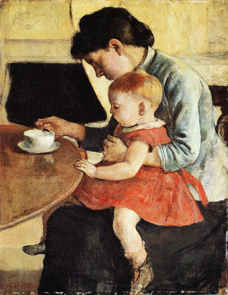 Mother and Chiild Date unknown | Ferdinand Hodler | oil painting