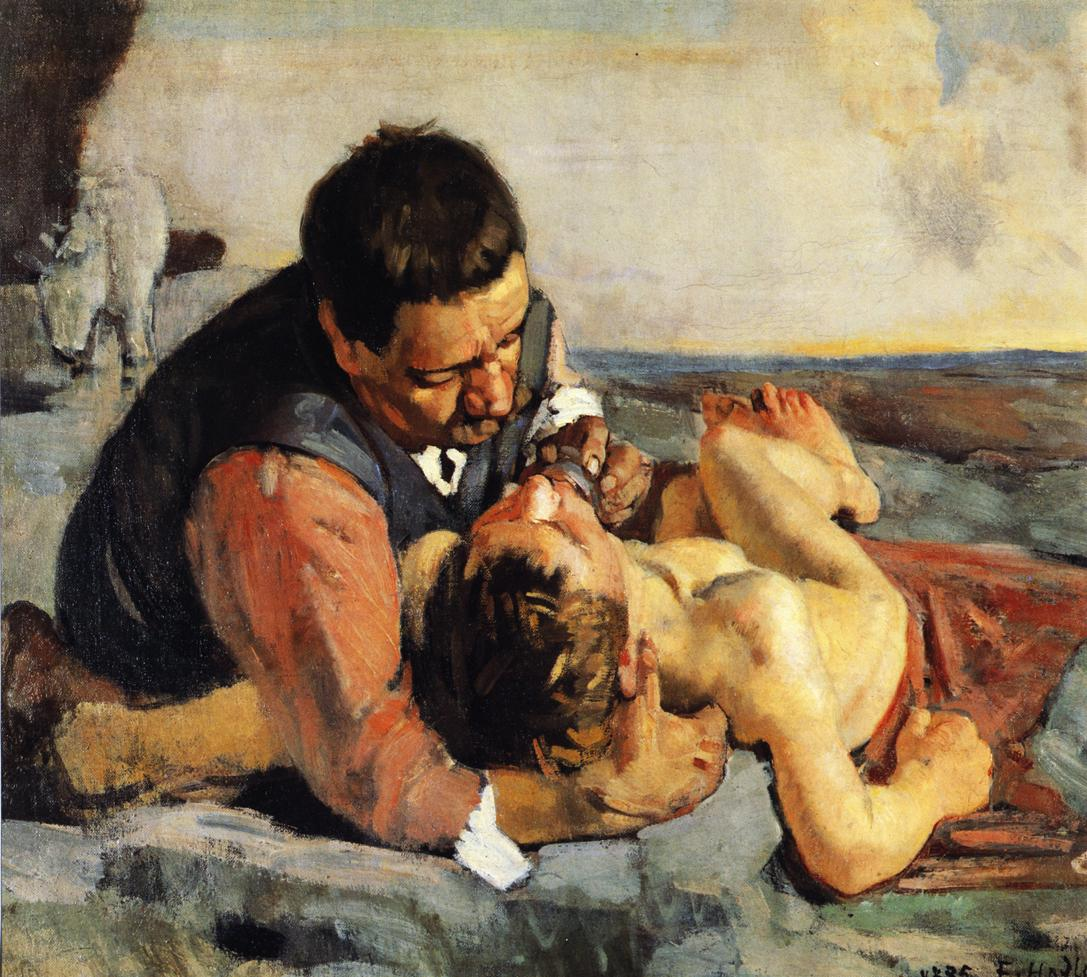 The Good Samaritan Date unknown | Ferdinand Hodler | oil painting