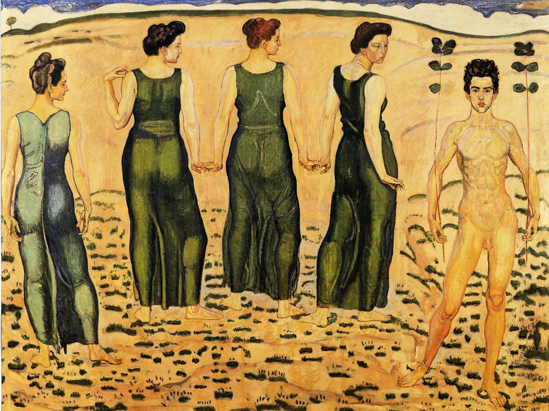 Youth Admired by Women (I) DateDate unknown | Ferdinand Hodler | oil painting