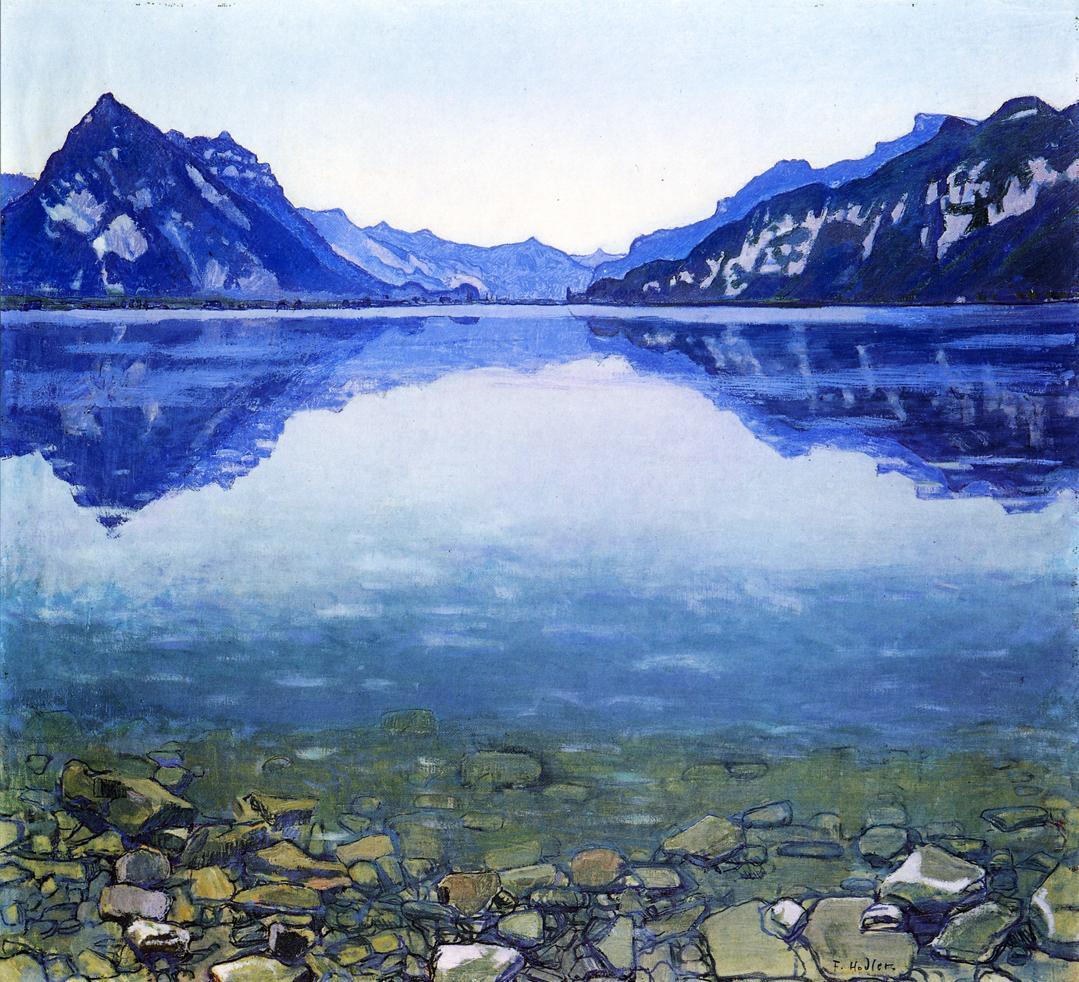 Lake Thun Landscape | Ferdinand Hodler | oil painting
