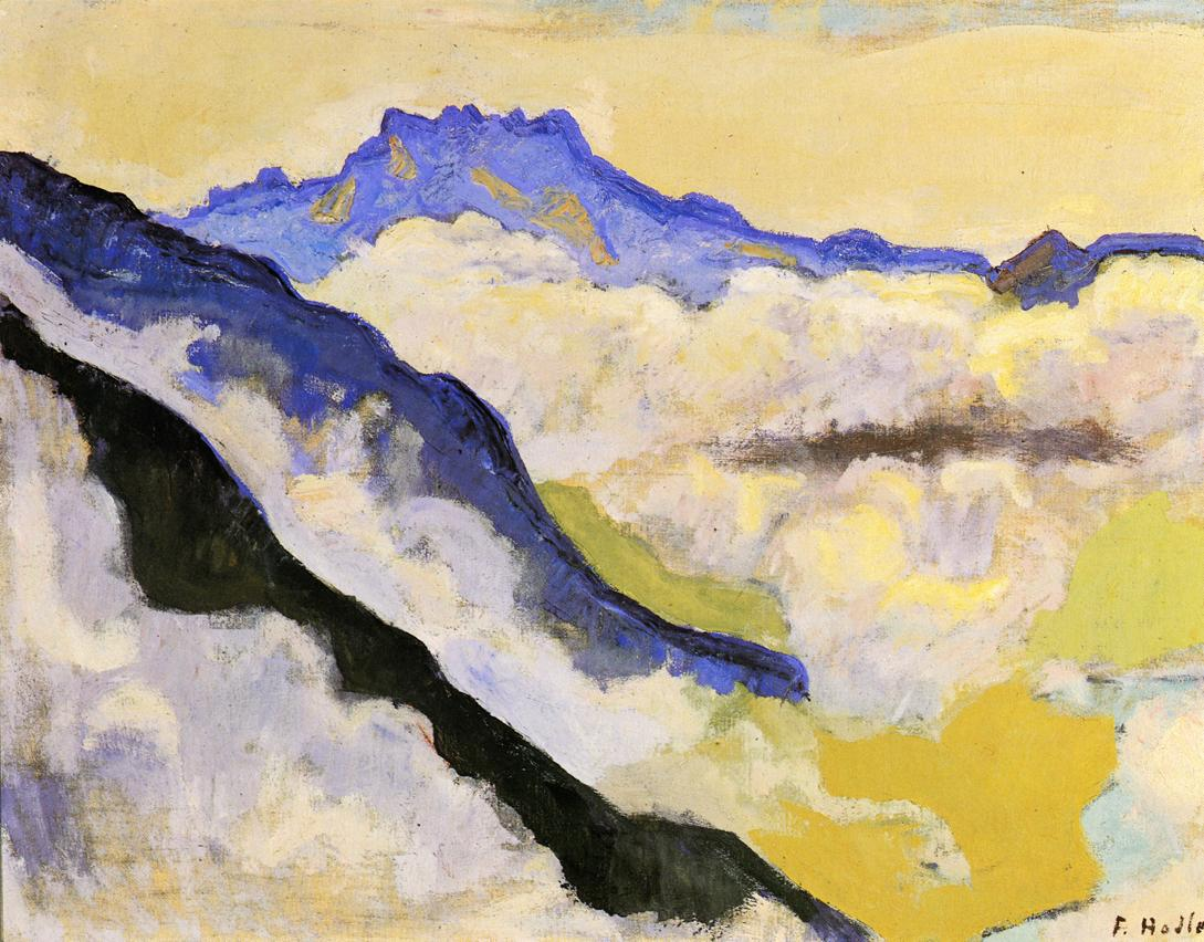 Dents du Midi in Clouds | Ferdinand Hodler | oil painting